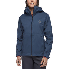 Black Diamond Stormline Stretch Rain Shell Jacket Dame ink blue